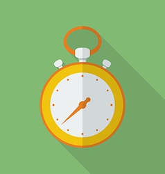 Stopwatch icon modern flat style with a long vector