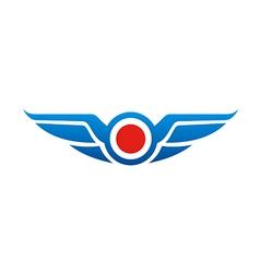 wing emblem fly logo vector image vector image