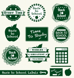 Back to School Labels vector image vector image