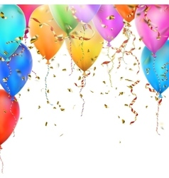 Birthday card with balloons EPS 10 vector image