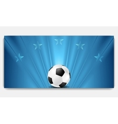 Bright abstract blue soccer background vector image