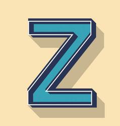 Letter z retro text style fonts concept vector