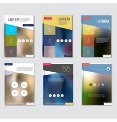 Set business brochure design template in A4 vector image