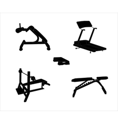 Set of Sports Trainer Simulator Isolated vector image vector image