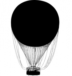 silhouette of air balloon vector image vector image
