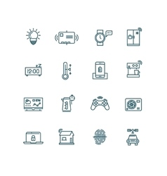 Smart house icons Home automation control systems vector image