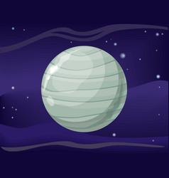 uranus planet sun system universe vector image vector image