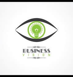 vision and idea concept- eye with lightbulb symbol vector image