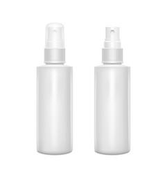 white spray bottles blank mock up vector image
