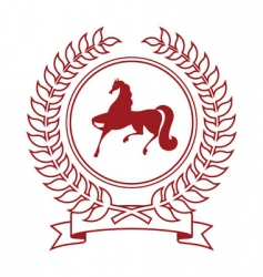 coat with horse vector image