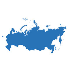 high detailed map - russia vector image vector image