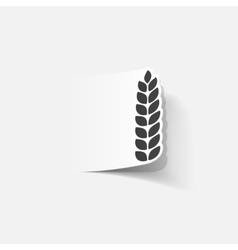realistic design element ears of wheat vector image vector image