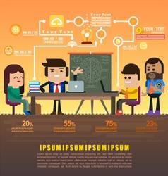 Teamwork brainstorming vector image vector image