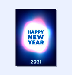 2021 new year typography with abstract gradient vector image