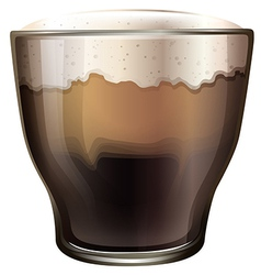A glass of cold coffee vector