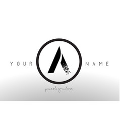 a logo letter with digital pixel tech design vector image