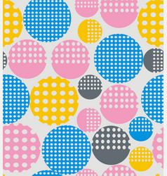 abstract geometry from circles with holes vector image