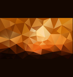 Abstract irregular polygonal background sunset vector