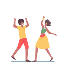 African man and woman in traditional jamaica vector