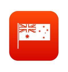 australian flag icon digital red vector image