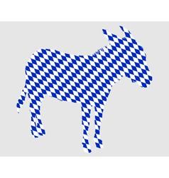 Bavarian donkey vector
