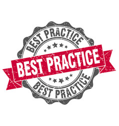Best practice stamp sign seal vector