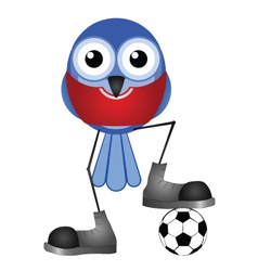 BIRDS SOCCER PLAYER RED vector image
