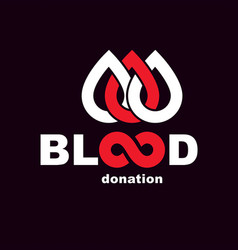 Blood donation inscription created with limitless vector