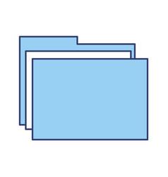 blue folder cartoon vector image