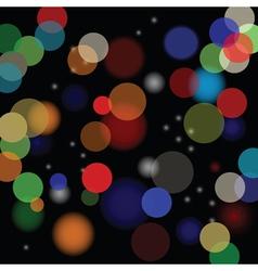 Blurred lights vector