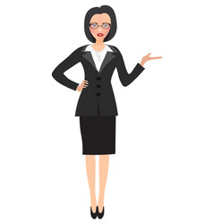 Business woman whole figure standing vector