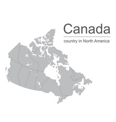 Canada map outline with vector