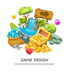 cartoon game design concept vector image