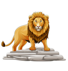 cartoon lion mascot vector image