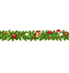 christmas border with gift box vector image