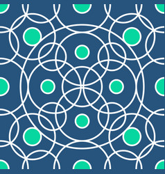 circle pattern including seamless sample in vector image