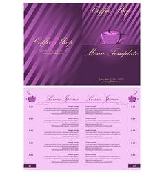 coffee shop menu template vector image