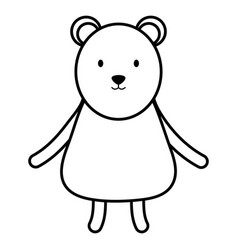 cute polar bear childish character vector image
