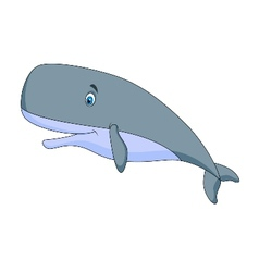 Cute sperm whale cartoon vector image