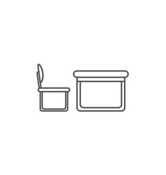 Desk with chair isolated icon in linear style vector