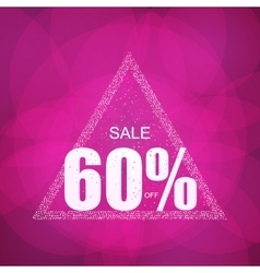 Discount the best offer with confetti on the sale vector image
