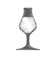 Drawing glass cup drink vector
