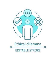 Ethical dilemma concept icon vector