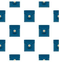 fashion pocket for shirt pattern flat vector image