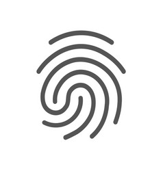 Finger print icon isolated vector
