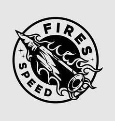 Fires speed emblem vector