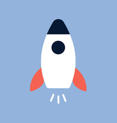 flat style rocket icon vector image
