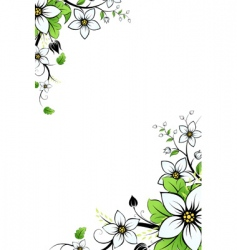 flower background with leaves vector image