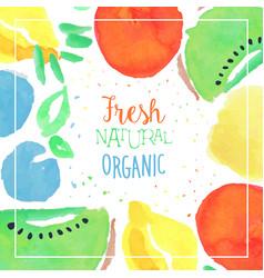 Fresh natural organic banner template sweet vector