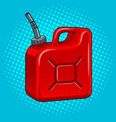 Gasoline jerrycan pop art vector